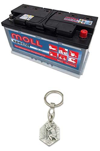 Zisa-Kombi Moll Solarbatterie Special Classic, Solar-Säure Batterie 12V / 100Ah (93298885149) mit Anhänger Hlg. Christophorus