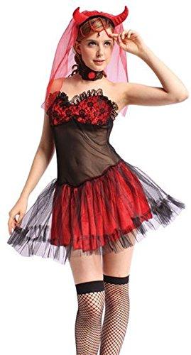 Bristol Novelty Miss Devil Set. Deluxe, Adult (Halloween Disguises)