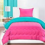 Crayola Turquoise Blue/Hot Magenta Twin Comforter Set