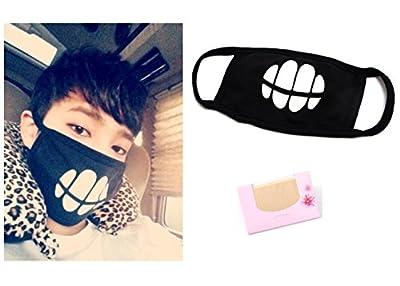 SoltreeBundle BTS Exo Black Mask BANGTAN BOYS GOT7 AOA BIGBANG Mask Kpop Mask + SoltreeBundle Oil Blotting Paper 50pcs