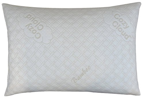 CozyCloud Deluxe Hypoallergenic Bamboo Shredded Memory Foam Pillow -...