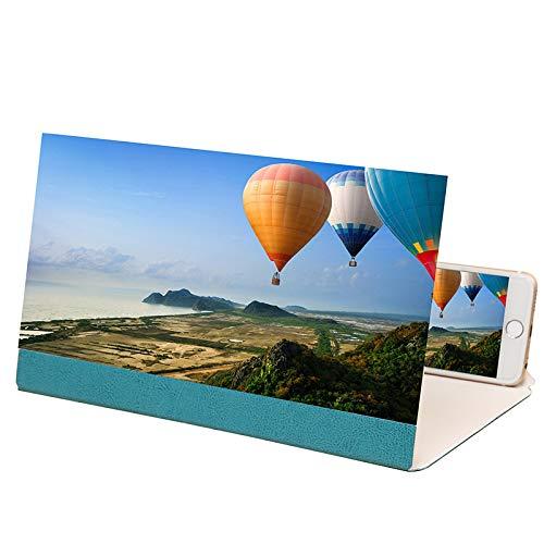 Vergrootglas, voor 3D-scherm, vergrootglas voor telefoon, 12 inch, voor beamer, compatibel met alle smartphones