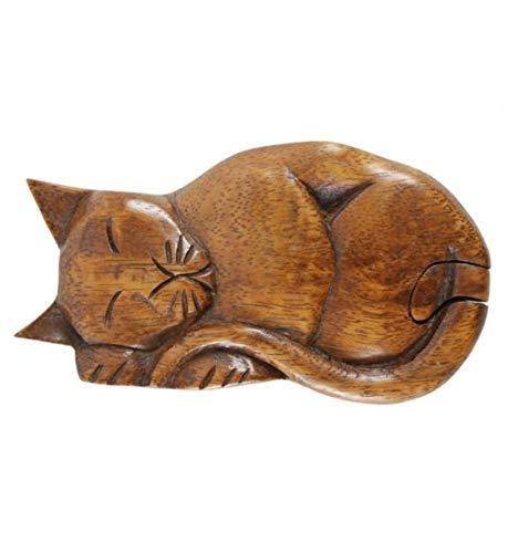 Coco Papaya - Caja para secretos de madera, diseño de gato