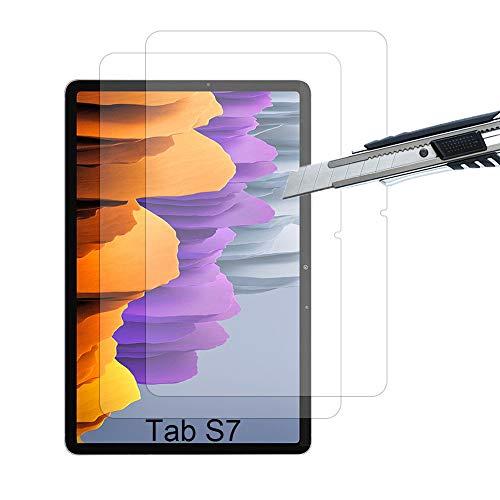 THILIVE [Lot de 2] Verre Trempé Samsung Galaxy Tab S7, Protection D'écran Verre Trempé pour Samsung Galaxy Tab S7, Résistant aux Rayures,Ultra Claire,Dureté 9H