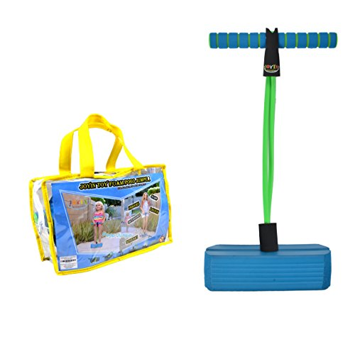 JOYIN Toy Foam Pogo Jumper in Easy to Carry Zippered Bag- Safe and Fun Pogo Stick for All, 250 Pound Capacity (Blue)