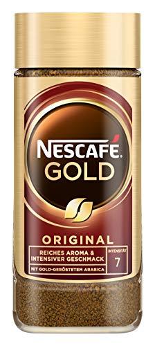 NESCAFÉ Gold Original, löslicher Bohnenkaffee aus erlesenen Kaffeebohnen, koffeinhaltig, vollmundig & aromatisch, 1er Pack (1 x 100g)
