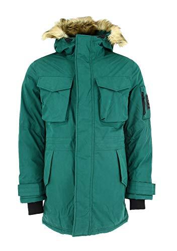 Timberland M Nordic Edge Parka Jacket Grün, Herren Daunen Isolationsjacke, Größe L - Farbe Forest Biome