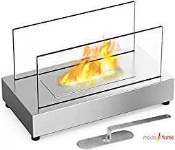 Moda Flame GF301801SS Vigo Table Top Ethanol Fireplace - Stainless Steel, Stainless Steel, Stainless Steel