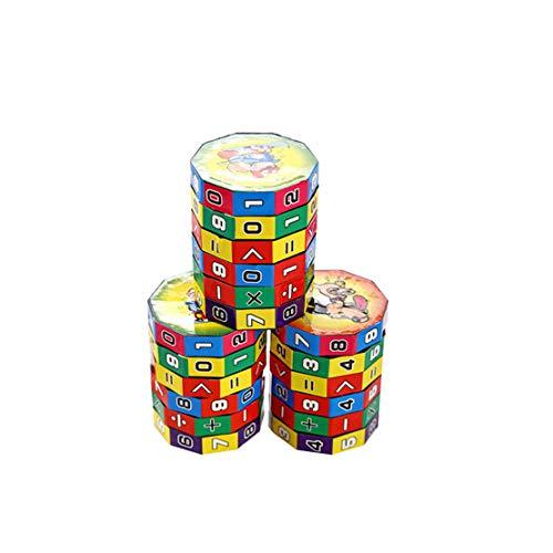 MTGYF 3 Packungen mit Kunststoff-Lernspielzeug für Kinder, frühkindliche Erziehung für Kinder, Rechenwürfel, Addition, Subtraktion, Multiplikation, abnehmbare, zylindrische Grundschüler