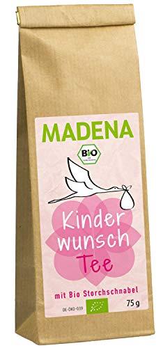 MADENA Bio Kinderwunschtee für Frauen I Schwangerschaft I Unterstützender Kräutertee mit u.a. Bio Storchschnabelkraut und Bio Frauenmantelkraut