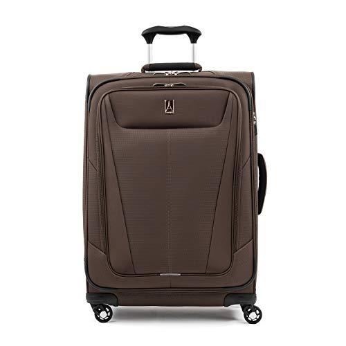 Travelpro Maxlite 5-Softside Expandable Spinner Wheel Luggage, Mocha, Checked-Medium 25-Inch