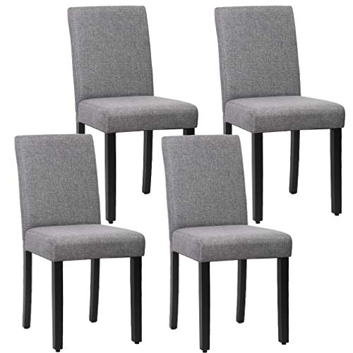 Dining Chairs Dining Room Chairs Parsons Chair Kitchen Chairs Set of 4 for Home Kitchen Living Room, Grey