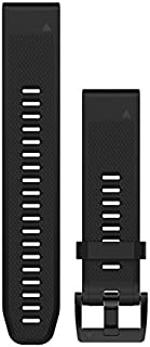 Garmin 010-12496-00 Fenix 5 Quick fit 22 Watch Band, Black Silicone
