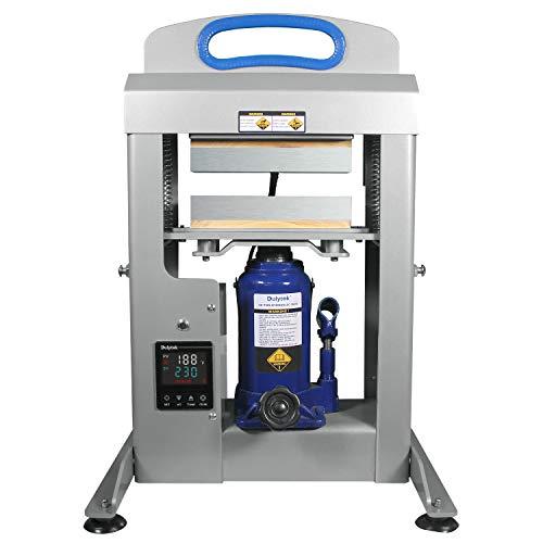 Dulytek DHP20 Hydraulic Heat Press Machine, 20-Ton Pressing Force, Dual Heat 3' x 8' Plates,...