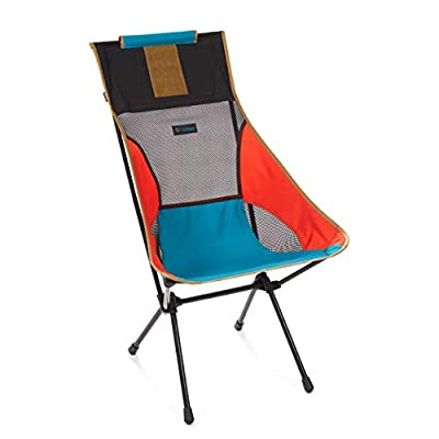 Helinox Sunset Chair Lightweight, High-Back, Compact, Collapsible Camping Chair, Multi Block