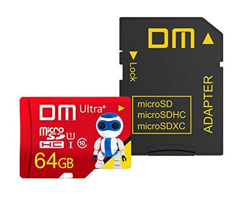 New Net – Tarjeta Micro SD de 64 GB, tarjeta de memoria Ultra SDHC U1 C10 UHS-I de alta velocidad con adaptador para Smartphone Tablet Cámara Digital Switch Gopro Drone Camera ECC