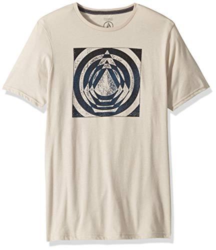 Volcom Herren Idle Stone Modern Fit Short Sleeve Tee T-Shirt, Hellbeige, Klein