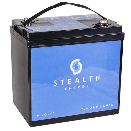American Bass 6V Car Audio Battery 224 AH Stealth Energy Car Audio Power Cell STEALTH2240