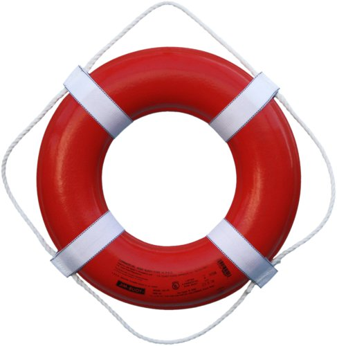 Cal June USCG Approved Ring Buoy (20- Inch Diameter, Orange) - GO-20