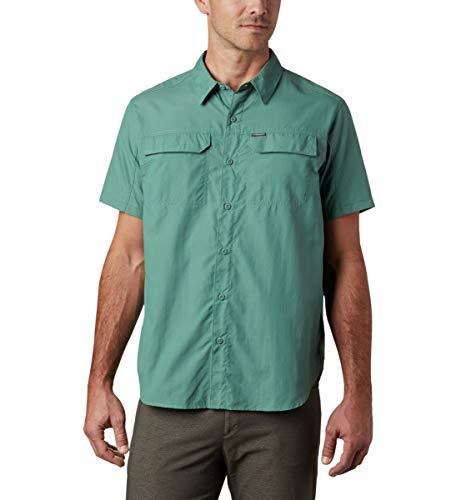 Columbia Silver Ridge 2.0 T-Shirt à Manches Courtes pour Homme Protection UV Sun Protection Silver RidgeTM 2.0, Homme, 1838881, Vert thym, s