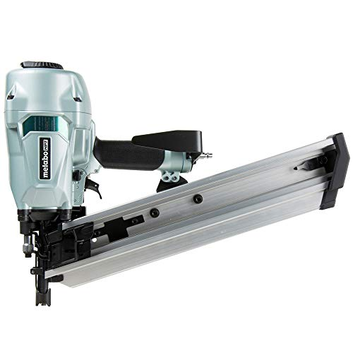 Metabo HPT Framing Nailer   Pneumatic   For LVL   2-3/8' to 3-1/2' Plastic Collated Framing Nails   .162', Full Head   21 Degree   NR90AC5