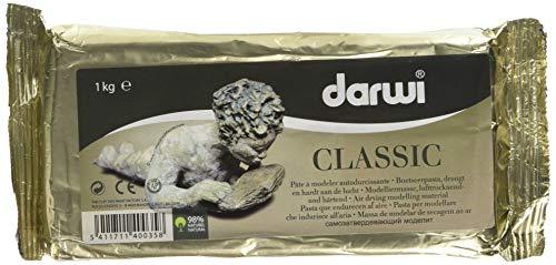 DARWI - Argilla da Modellare, Colore: Bianco, Peso: 1 kg