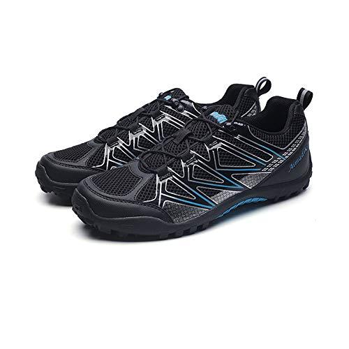 shoe Calzado de Ciclismo al Aire Libre para Hombres, Zapatillas de montaña Ligeras de Malla Transpirable, Zapatillas de Viaje Antideslizantes Resistentes al Desgaste, Zapatos de Senderismo