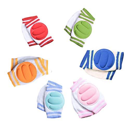 ECHERY 6 Stück Crawling Baby Knieschoner Anti-Rutsch-Knieschützer Unisex-Baby-Kleinkinder-Ellenbogen-Knie-Schoner Für 0-3 Jahre