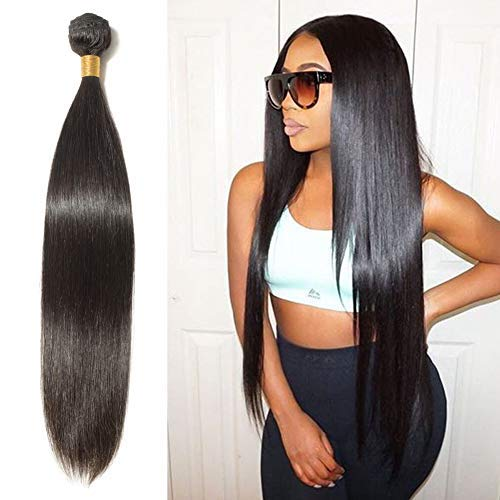Fashionable Human In a popularity Hair Bundle 14 inch #1B Off Black Straight