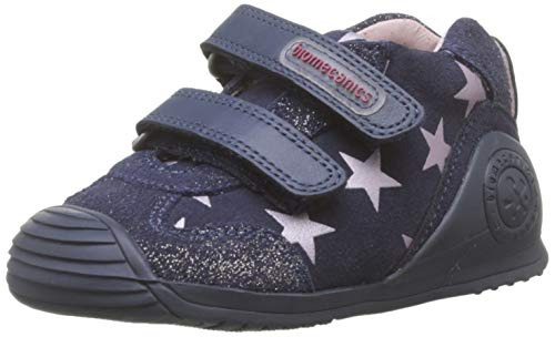 Biomecanics 191136, Zapatillas de Estar por casa para Bebés, Azul (Azul Marino Y Estrellas (Serraje Laminado Y Estampado) Paprika), 22 EU