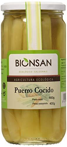Bionsan Puerro Cocido Ecológico - 4 Botes de 400 gr - Total