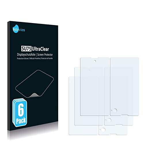 Savvies 6X Schutzfolie kompatibel mit Yota Devices Yotaphone Bildschirmschutz-Folie Ultra-transparent