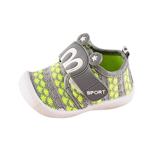 Dorical Unisex Babyschuhe Sneaker/Kinder Sommer Atmungsaktives Mesh Sportschuhe Jungen Mädchen Freizeitschuhe Lauflernschuhe Krabbelschuhe mit Weiche Sohle 16-21EU(Grün,21 EU)