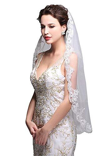 DXYTS Brautschleier aus Spitze, schlicht und elegant, Brautkleid, Brautkleid, Brautkleid, Brautjungfernkleid, Blumenmädchen