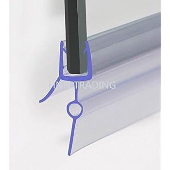 HNNHOMEⓇ - Tira de Goma plástica, Sello para mampara de Ducha, para Puerta de Cristal Recta o Curvada de 8-10 mm, con separación de 5 a 10 mm: Amazon.es: Hogar
