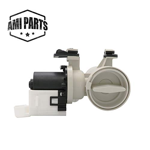 Replacement Washer Drain Pump Assembly W10130913 (ORIGINAL VERSION) By AMI PARTS - Replaces Washing Machine W10730972, 8540024,W10183434