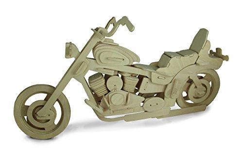 Quay B019 Motorfiets XL Houtskool Bouwpakket, Bruin
