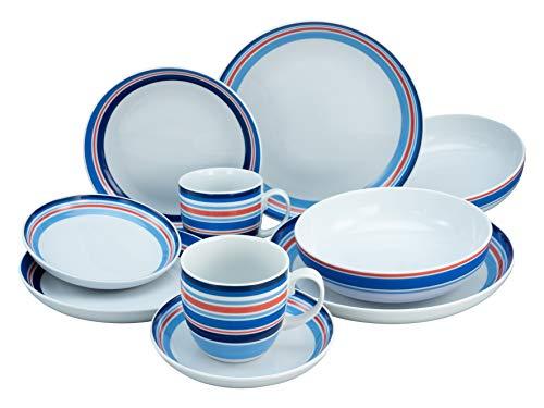 Creatable, 22901 Allround-COAST Line - Vajilla (10 piezas, porcelana)
