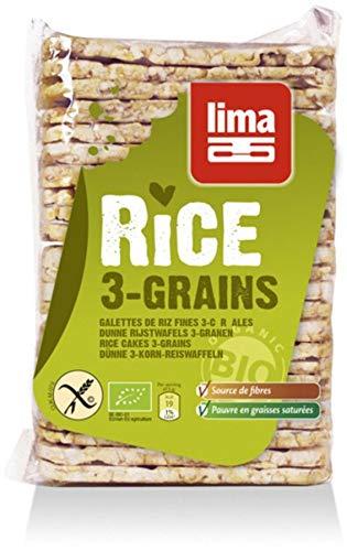 Lima Bio Dünne Reiswaffeln 3-Korn (2 x 130 gr)
