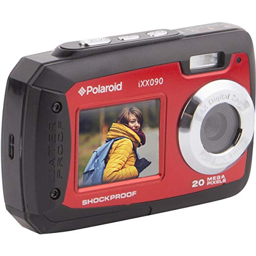 Polaroid iXX090 Dual Screen Shock & Waterproof Digital Camera (Red)