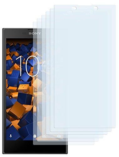 mumbi Schutzfolie kompatibel mit Sony Xperia L2 Folie klar, Bildschirmschutzfolie (6X)
