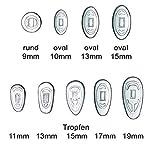 2 pares (4 unidades) de almohadillas de nariz para gafas – sistema de rosca de silicona, varios...