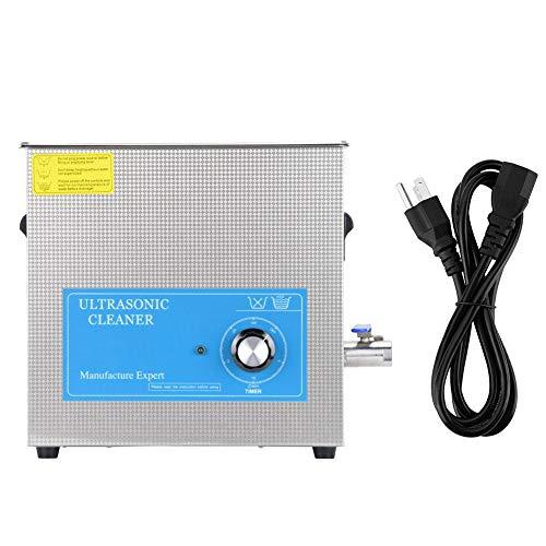 Limpiador ultrasónico grande 22L, Limpiador ultrasónico de acero inoxidable 820T Temporizador mecánico Suministros de limpieza de laboratorio para gafas Anillos Monedas Relojes de joyería(UK plug)