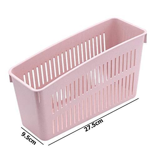 Home opslaggereedschappen, 1 stuks. Roze 3 roosters multifunctionele keukenkoelkast, organizer, bonen, voorraadbak, kast, voedselorganisator, voor thuis en in de keuken