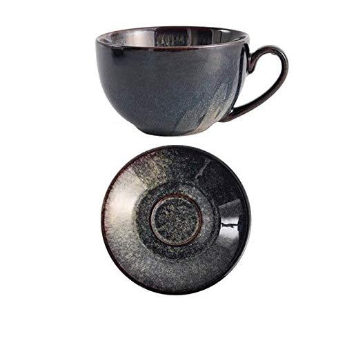 Taza de té de café De Porcelana China Taza De Café Y Platillo Conjunto Sencilla Taza De Café De La Manera Casa Pequeña Oficina De Lujo Taza De Conjunto Taza de café (Color : 1 set Green)