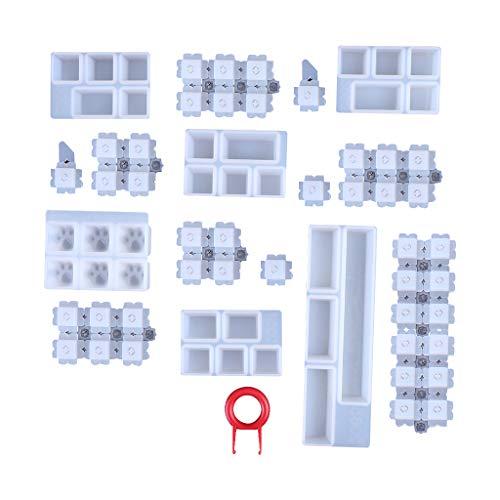 Huyiko 1 Set manuell mechanisch Tastatur Kappe Silikon UV Kristall Epoxy Formen Hand Handwerk Werkzeug Herstellung