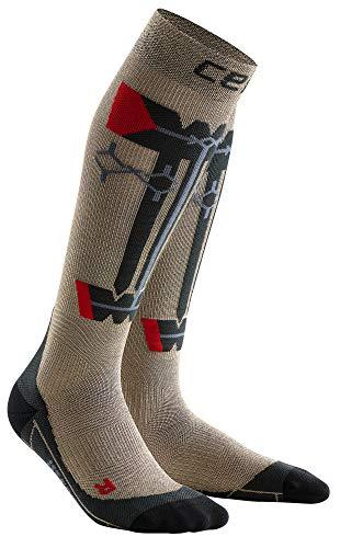 CEP Obstacle Run Socks für Damen | Mit Kompression für Erfolg beim Hindernislauf | grau | Größe IV