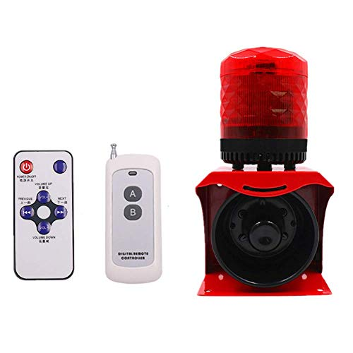 Industrial Warning Alarm w/Wireless Remote Control Safety Sound Light Alarm Siren Horn Infrared Remote Emergency LED Warning Light Voice 120dB Waterproof Outdoor SF-512