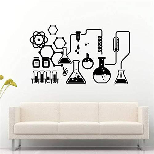 Sanzangtang Afneembare muur chemische kunst wandtattoo zelfklevend laboratorium slaapkamer kunst decoratie van het huis afneembaar vinyl muursticker