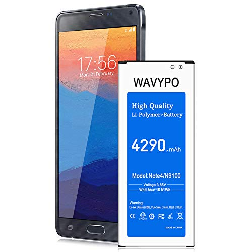 (Upgraded) Galaxy Note 4 Battery 4290 mAh, Wavypo Replacement Battery...